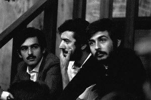 PROCESSO TRIMARCHI, AL CENTRO MARIO CAPANNA LEADER DEL MOVIMENTO STUDENTESCO E A DX GIUSEPPE LIVERANI PROCESSO PER FATTI AVVENUTI NELLA UNIVERSITA' STATALE ANNO 1969