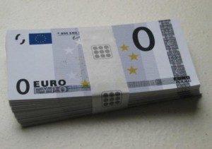 banconota zero euro