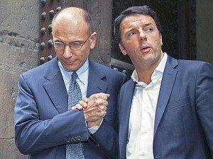 Matteo Renzi e Enrico Letta Firenze 08/06/2013