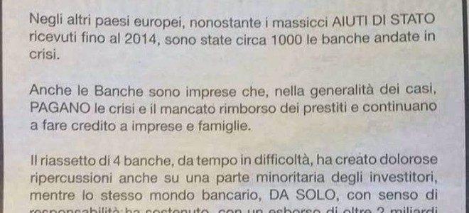 """""""BAIL IN"""", TRA CONFUSIONE E DIRITTI DI PROPRIETA' NEGATI, METTIAMO SOTTO PRESSIONE LE BANCHE"""