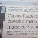 CANONE RAI IN BOLLETTA, PER CHI NON HA LA TV VA FATTA UNA RACCOMANDATA