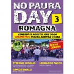 Leonardo Facco domani sera a Cesenatico NO PAURA DAY